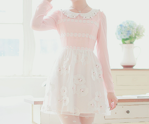 pink, cute, and dress image