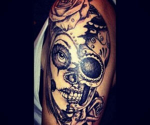 tattoo, beautiful, and skull image