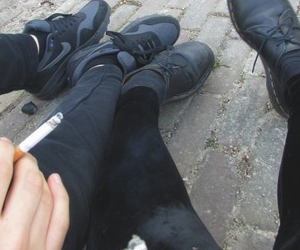 grunge, black, and cigarette image
