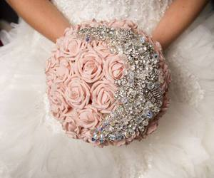 wedding, pink, and bouquet image