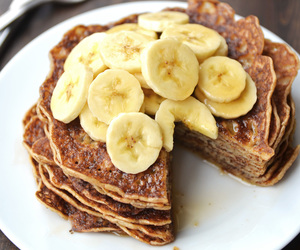 food, banana, and delicious image