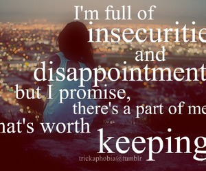 alone, girl, and insecurity image