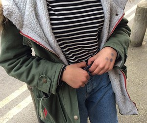 baggy jeans, comfy outfit, and kawaii coat image