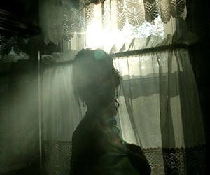 curtain, ethereal, and girl image