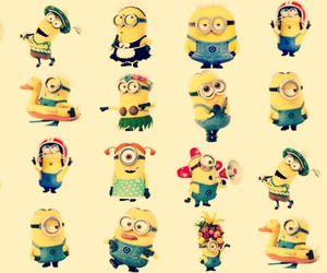 minions, background, and cute image