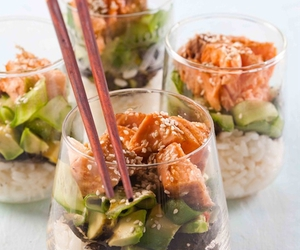 food, sushi, and salad image