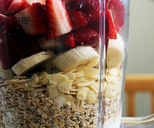 smoothie, banana, and breakfast image