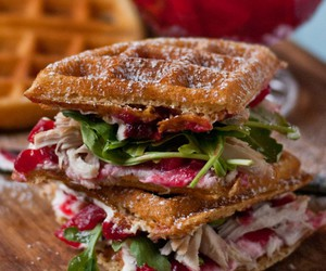 waffles and sandwich image