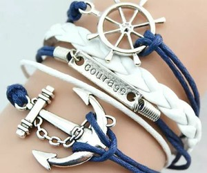adorable, anchor, and blue image
