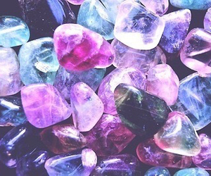 stone, crystal, and purple image