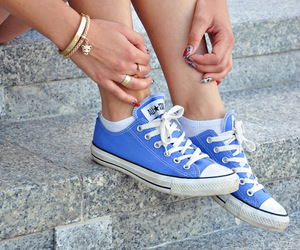 converse, blue, and fashion image
