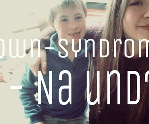 brother, down-syndrom, and love image