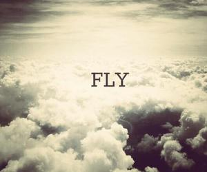 fly, clouds, and sky image