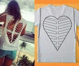 diy, heart, and shirt image