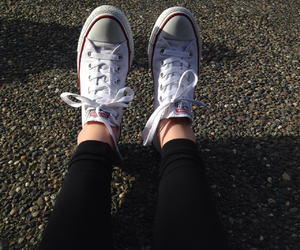 converse, nature, and outside image