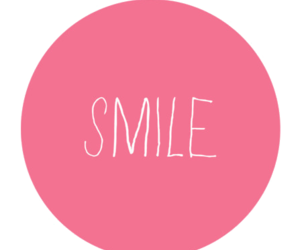 smile, pink, and overlay image