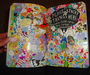 wreck this journal, art, and journal image