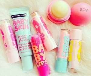 eos, baby lips, and makeup image