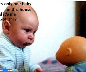 baby, funny, and clone image