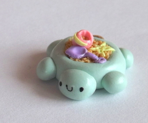 mint green, turtle, and polymer clay charm image
