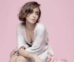 lily collins and pink image