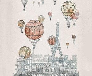 paris, wallpaper, and balloons image