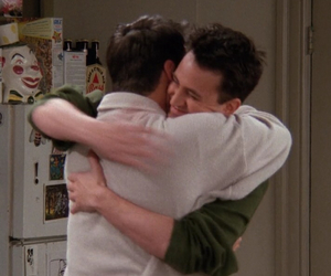 chandler bing, joey tribbiani, and movie image