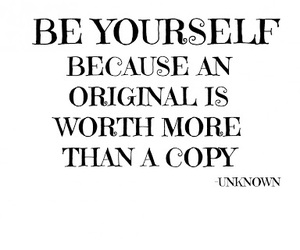 quotes, original, and be yourself image