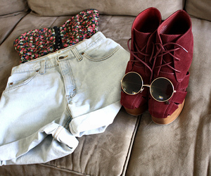 fashion, shoes, and shorts image