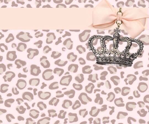 animal print, crown, and girly image