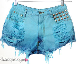 clothing, colorful, and cut offs image