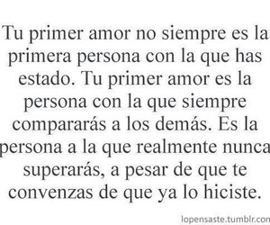 love, frases, and primer amor image