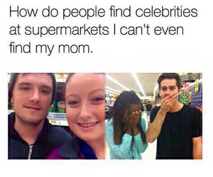 funny, celebrity, and supermarket image