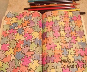 puzzle, creative, and wreck this journal image