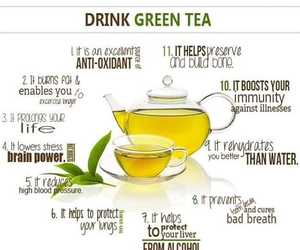 green tea, healthy, and tea image