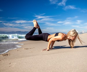 beach, fitness, and strength image