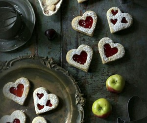 Cookies, heart, and valentines image
