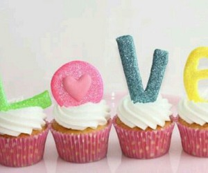 cupcakes, food, and love image