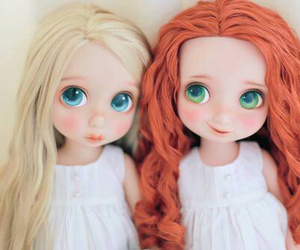 disney, doll, and merida image