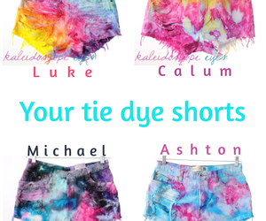 short shorts, tie dye, and preferences image