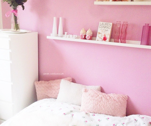 bed, flowers, and girl image