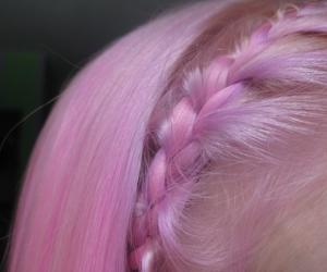 pink, hair, and braid image