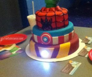 Avengers and cake image