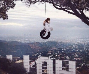 girl, hollywood, and swing image