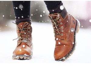 boots, fashion, and snow image