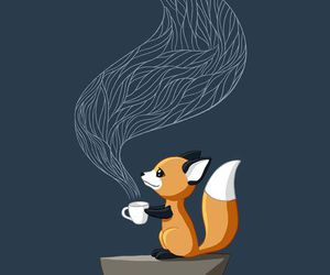 fox, tea, and coffee image