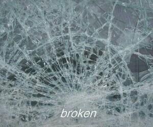 broken, glass, and sad image