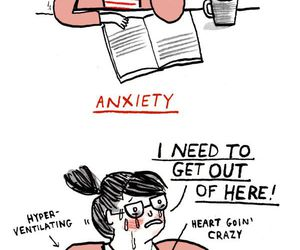 anxiety, caption, and me image