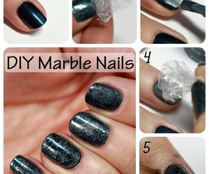 diy, nails, and marble image