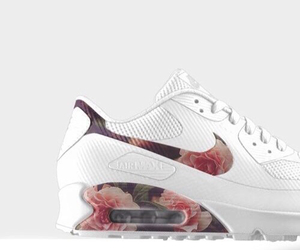 nike, flowers, and white image